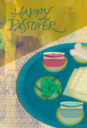 Seder Plate Painting Passover Card