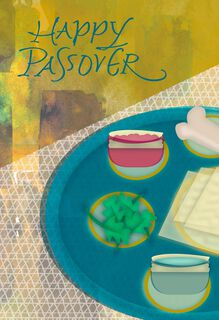 Seder Plate Painting Passover Card,