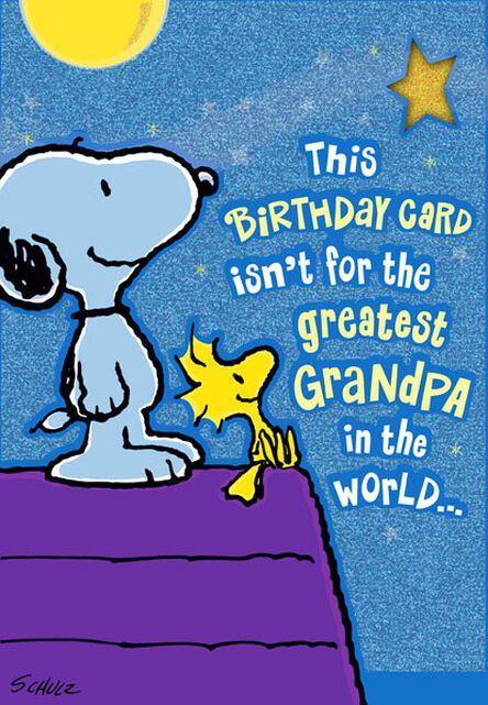Greatest Grandpa Snoopy And Woodstock Birthday Card Greeting Cards