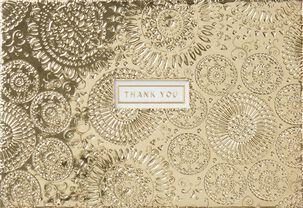 Gold Mandalas Thank You Blank Card