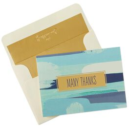 Blue Color Block Thank You Notes, Box of 10, , large