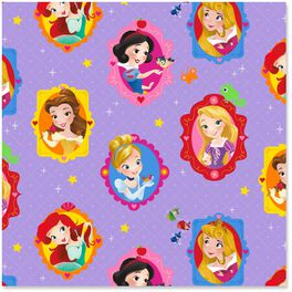 Disney Princess Cute Wrapping Paper Roll, 25 sq. ft., , large