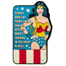 WONDER WOMAN™ Embossed Metal Sign, , large