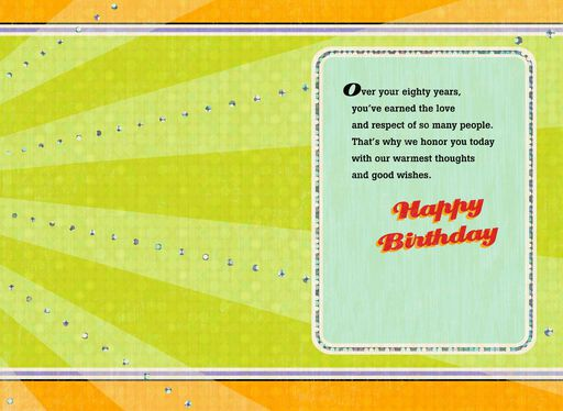 Starburst With Foil 80th Birthday Card,