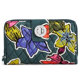 Vera Bradley RFID Turnlock Wallet in Falling Flowers, , large