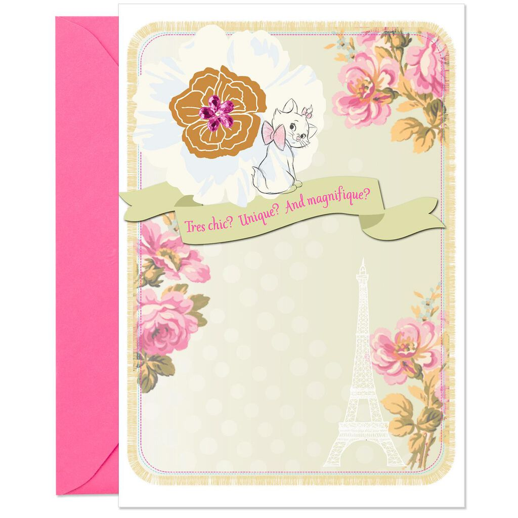 Disney The Aristocats Chic Marie Birthday Card For Niece