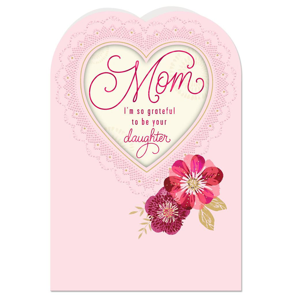You Re An Inspiration Mom Valentine S Day Card From Daughter