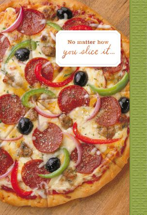 Pizza Father's Day Card for Uncle
