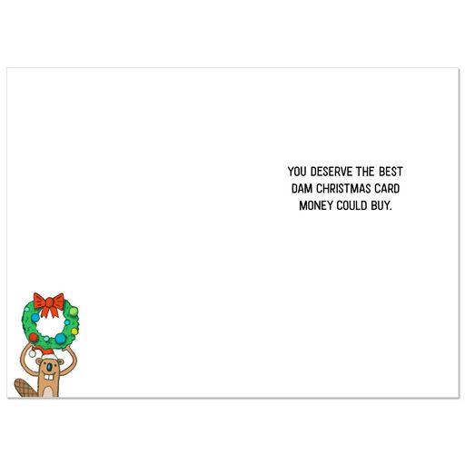 merry merry beaver dam funny christmas card