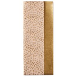 Gold Metallic and Pink Scallops Dual-Pack Tissue Paper, 6 sheets, , large