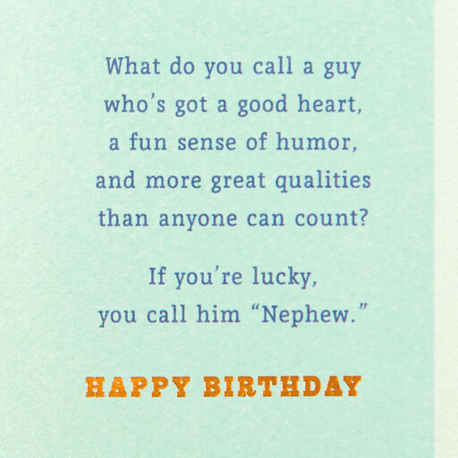 Good Guy Heart Birthday Card For Nephew