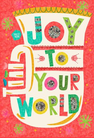 Joy To Your World Musical Christmas Card