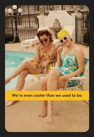 Cool Pool Ladies Funny Birthday Card