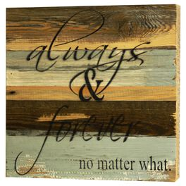 Always & Forever Rustic Wood Sign, 12x12, , large