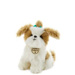Tan and White Cuddly Dog Small Stuffed Animal, , large