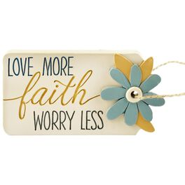 Love More Worry Less Faith Resin Gift Tag, , large