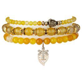 Chavez for Charity Yellow Buddha Bracelets, Set of 3, , large