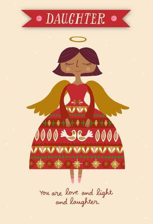 My Little Angel Daughter Christmas Card