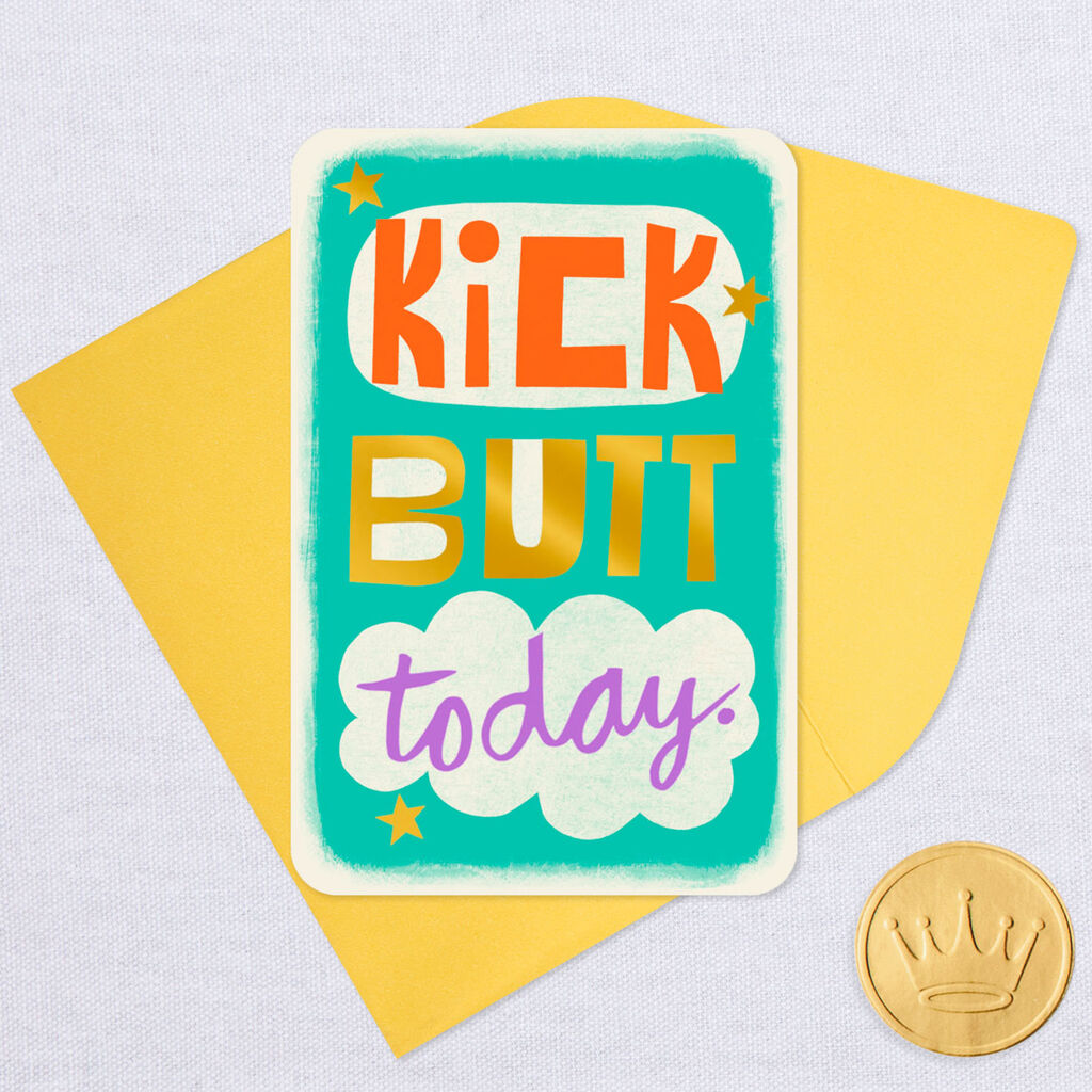 325 Mini Kick Butt Today Good Luck Card Greeting Cards Hallmark