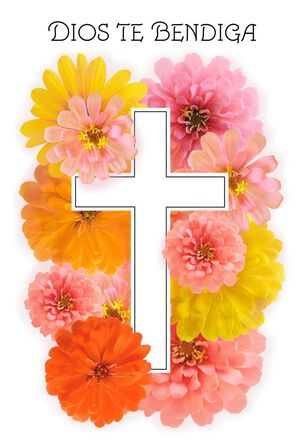 Cross With Flowers Spanish-Language Easter Cards, Pack of 6