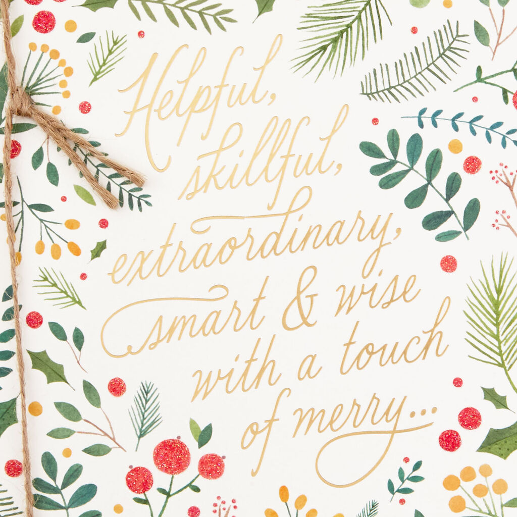 Merry Christmas Boss.Smart Wise And Merry Christmas Card For Boss