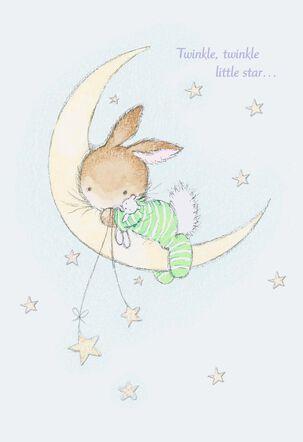 Twinkle, Twinkle Little Star New Baby Card