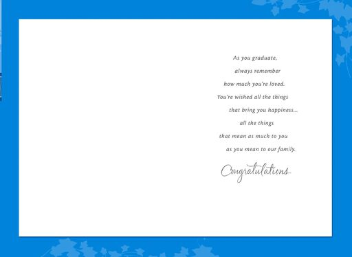 Graduation Line Greeting Card from Grandparents,