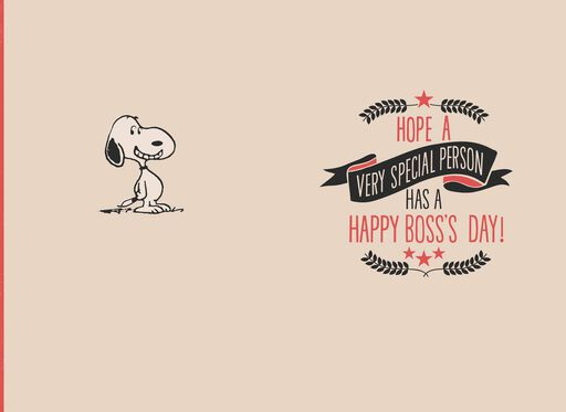 Peanuts® Snoopy Very Special Person Boss's Day Card,