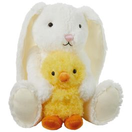 "Snuggles and Cuddles Bunny and Duck Stuffed Animal, 10.5"", , large"