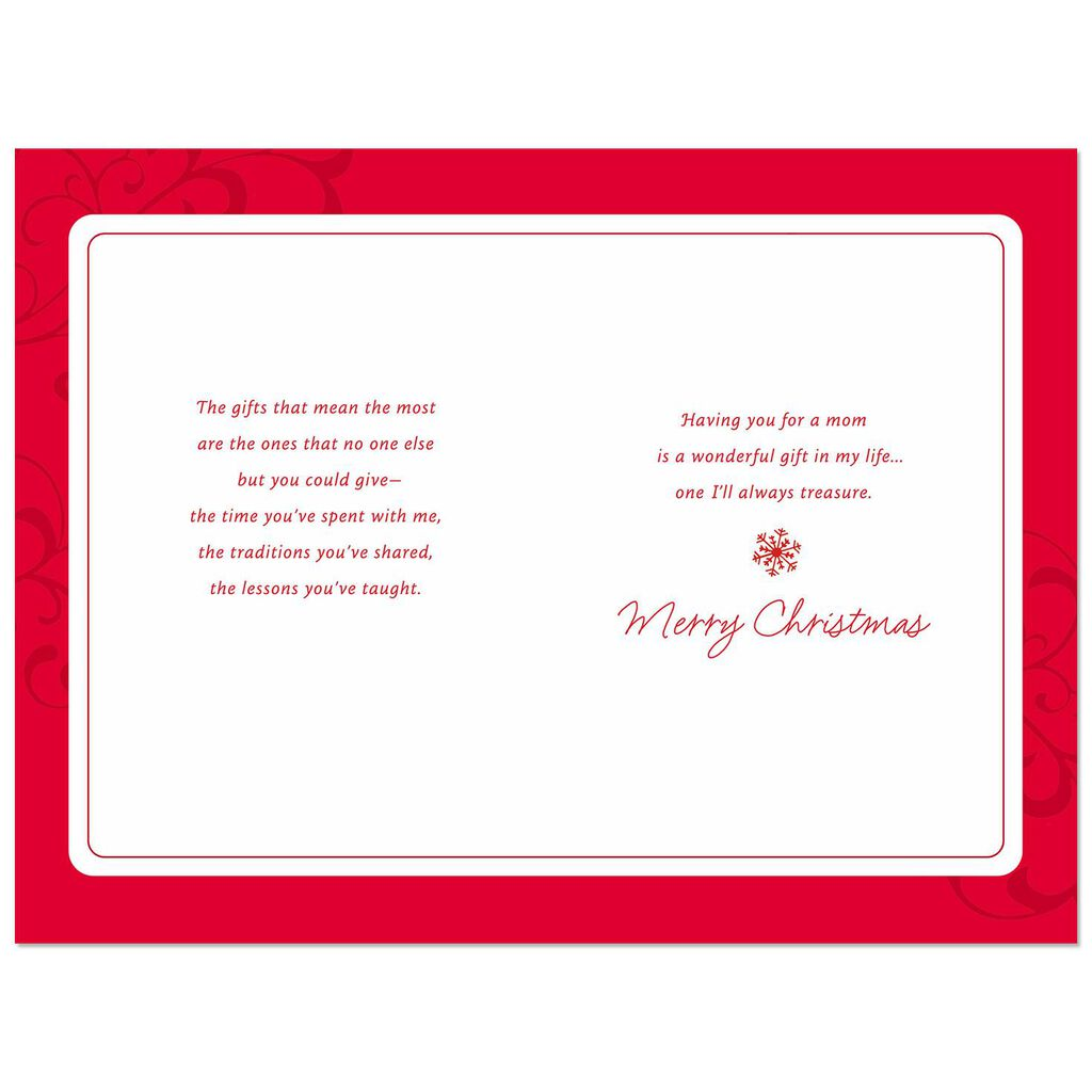 You\'re a Wonderful Gift in My Life Christmas Card for Mom - Greeting ...