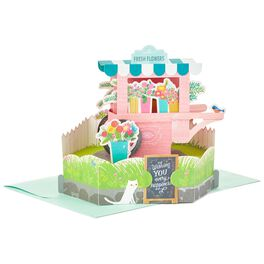 Fresh Flower Cart Pop Up Just Because Card, , large