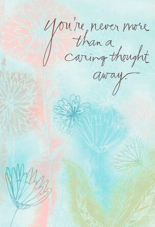 Pastel Mums and Daisies Encouragement Card