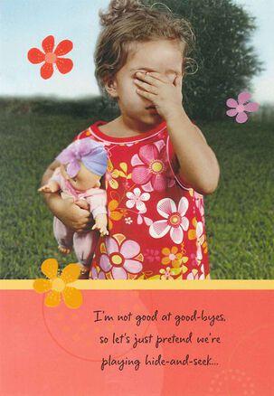 Hide and Seek Goodbye Card