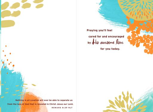 No Greater Love Religious Encouragement Card,