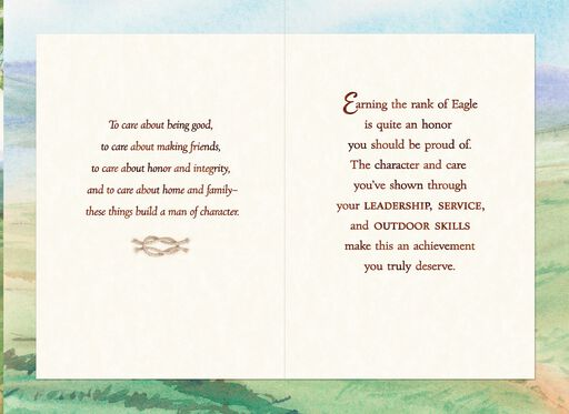 Scouts Hiking Eagle Scout Congratulations Card,