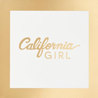 California Girl Blank Card,
