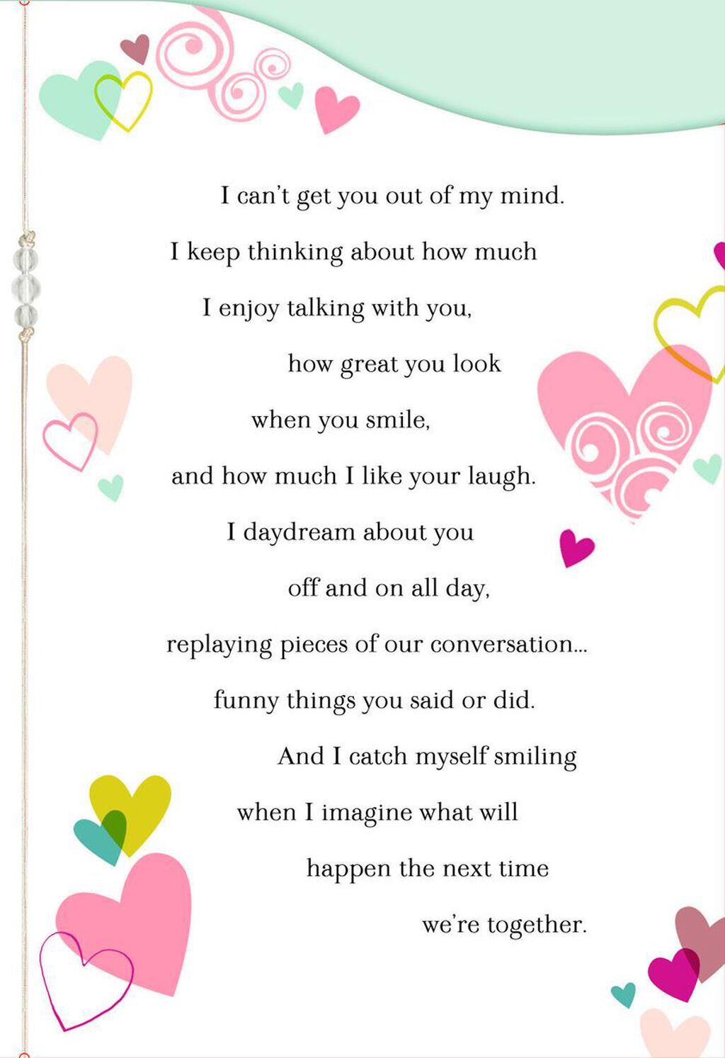 I Catch Myself Smiling New Relationship Love Card Greeting Cards