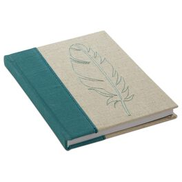 Stitched Feather Journal, , large