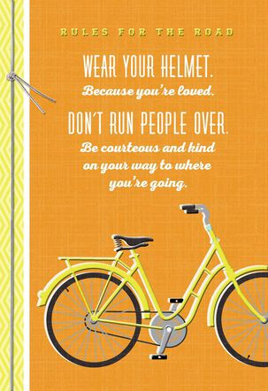 Rules for the Road Graduation Card