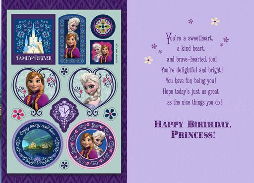 Frozen's Princess Anna Birthday Card,