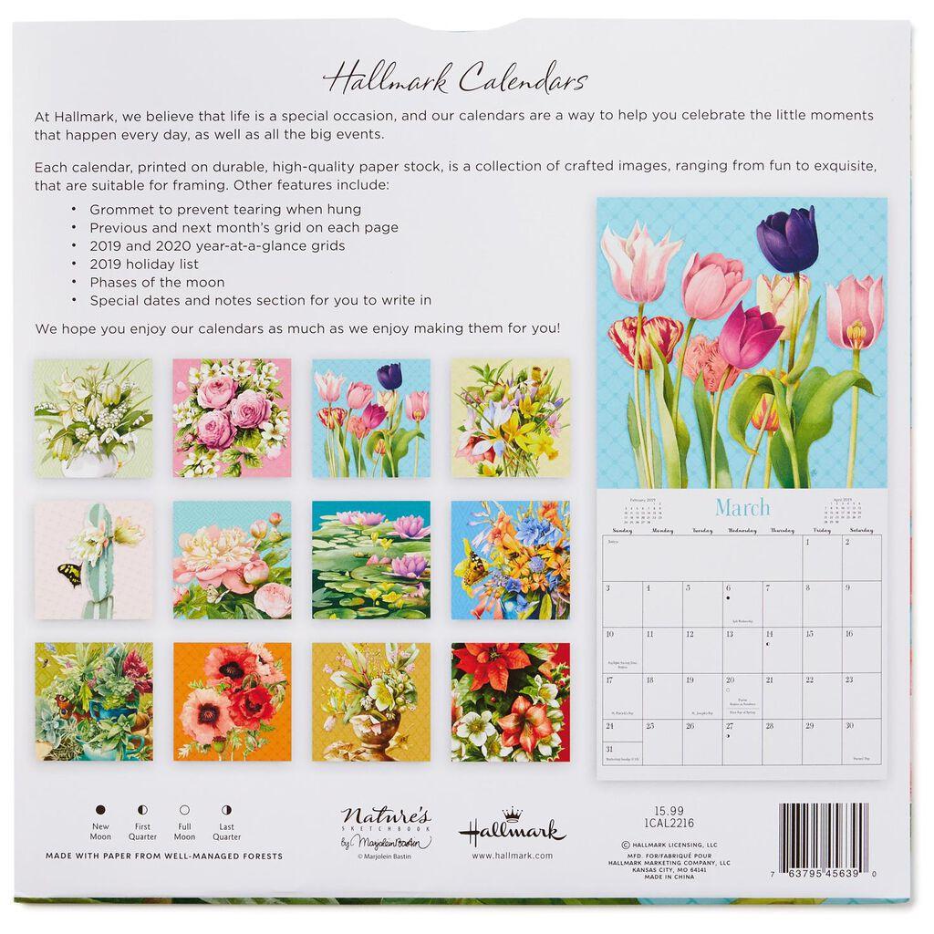 Marjolein Bastin Flowers 2019 Wall Calendar 12 Month Calendars