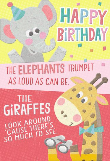 Wild Animals Birthday Card Greeting Cards Hallmark