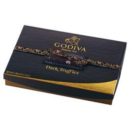 Godiva Chocolatier Dark Chocolate Truffles in Gift Box, 24 Pieces, , large