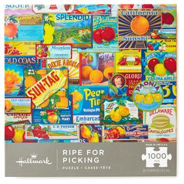 Ripe for Picking Vintage Fruit Labels 1000-Piece Jigsaw Puzzle, , large