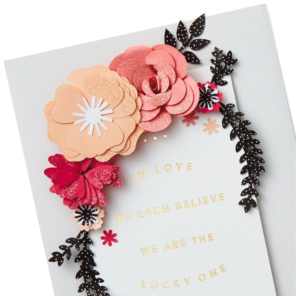 Paper Flowers Lucky One Valentine S Day Card Greeting Cards Hallmark
