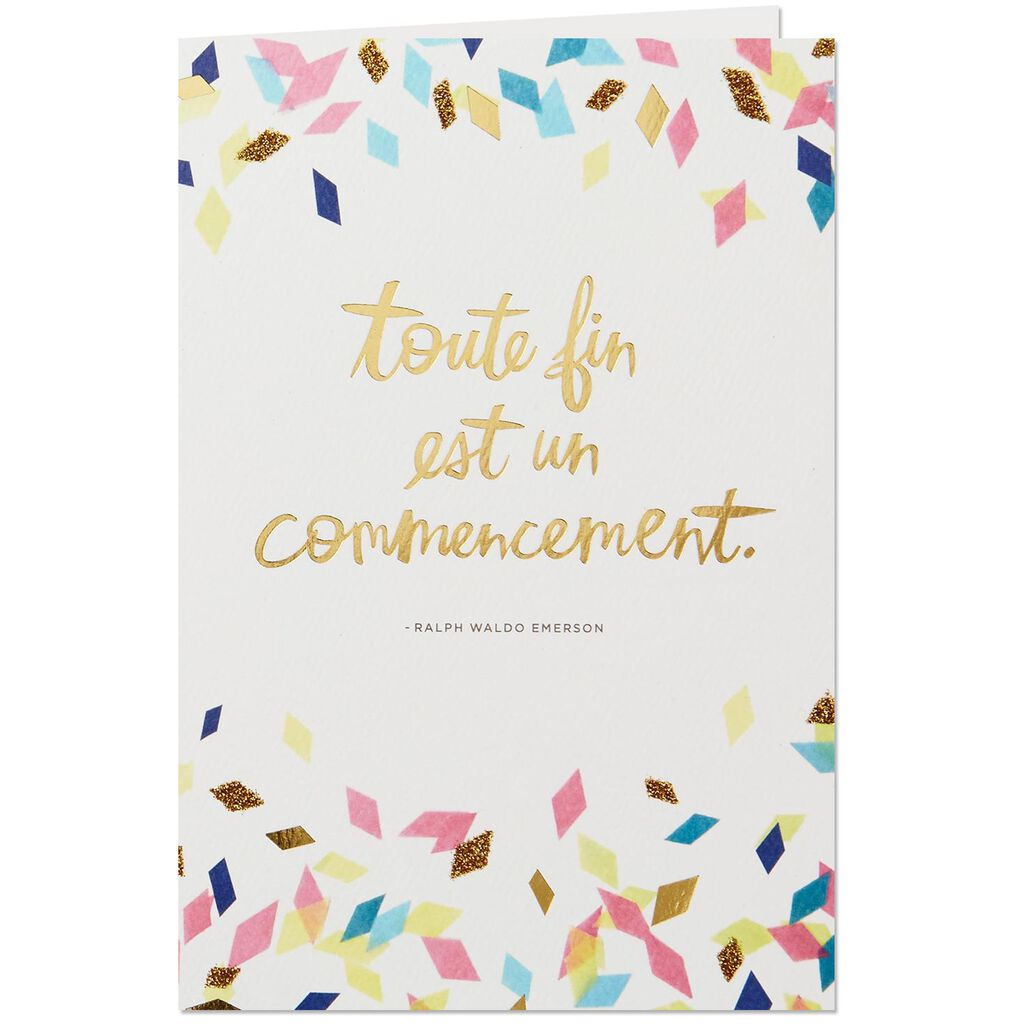 Bonne chance french language graduation card greeting cards hallmark bonne chance french language graduation card m4hsunfo