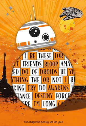 Star Wars™: The Force Awakens™ BB-8™ Card With Magnetic Poetry Words