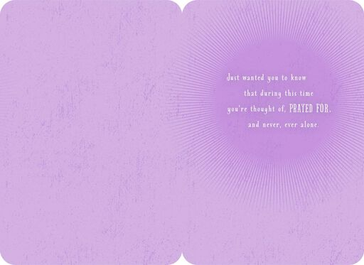 You're Never Alone Religious Encouragement Card,