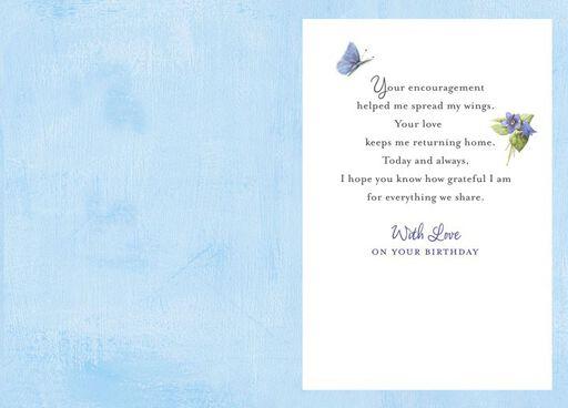 Bastin Birdhouse Mom Birthday Card