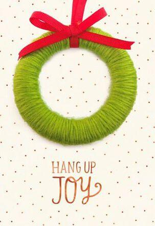 Hang Up Joy Ornament Christmas Card